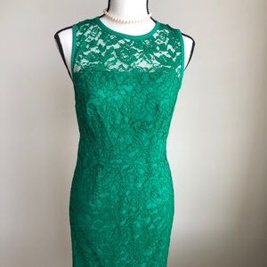 The Limited Lace Dress - Emerald Green - Size 0
